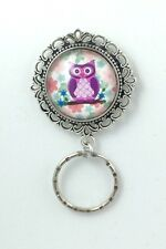 Cute Little Owl  Magnetic ID Badge Eyeglass Holder Pin Brooch (owl design #3)