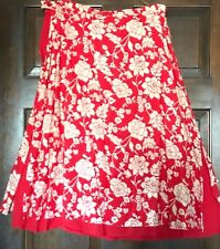 ab5b2a47a7 New ListingNEW COLDWATER CREEK Red Ivory A-Line Skirt w Underskirt (Red)