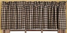 "Valance Curtains Dark Navy Red Tan Kitchen Study 183x41cm72""x16"" SPECIAL PRICE"