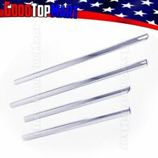 For Chevy TAHOE 2000-2002 2003 2004 2005 2006 4PC Window Sill STEEL Chrome Cover