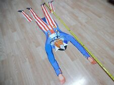 Vtg Uncle Sam Diecut Jointed Figure Decoration Americana