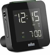 Braun Digital Globally Radio Controlled Travel Alarm Clock Black - BNC009BK-RC