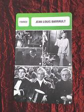 JEAN-LOUIS BARRAULT - MOVIE STAR - FILM TRADE CARD - FRENCH