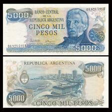 Argentina 5000 5,000 Pesos, 1977-1983, P-305b, UNC, Banknotes, Original
