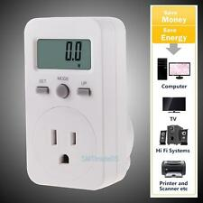 Power Energy Watt Voltage Amp Meter Electricity Usage LCD Monitor Tester US Plug