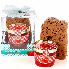 Toast & Jam Body Wash Gift Set Strawberry Bath Shower Gel and Toast Sponge Xmas