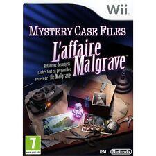 MYSTERY CASE FILES (l'affaire Malgrave) jeu sur  WII bon état
