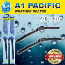 "Bracket less Windshield Wiper Blade 9x3 J HOOK 21"" & 20"" CRV Mazda OEM Quality"
