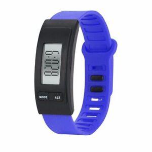 Watch Bracelet Fitness Tracker Step Run Pedometer Alarm Clock Calorie Counter