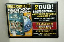 AGE OF MYTHOLOGY + ESPANSIONE TITANS USATO PC DVD VERSIONE ITALIANA GD1 47597