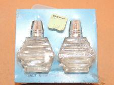 glass Bottle Salt and Pepper Shakers in original box Walgreens (12100)