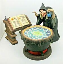 Disney WDCC, Hexe mit Kessel & Buch (Snow White) + Zertifikat +Box