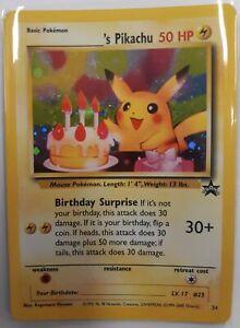 Birthday Pikachu Promo card - Mint condition