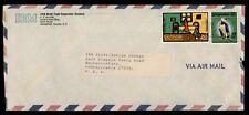 DR WHO 1972 GUYANA SLOGAN CANCEL AIRMAIL TO USA ADVERTISING IBM  f51770