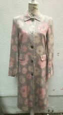 Ladies Coat Lilac 10 Pink 38 Linen Floral Dots Slit Button Cotton Boden Wedding