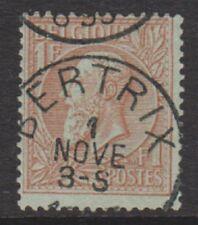 Belgium - 1884, 1f Red-Brown/Green - F/U - SG 76 (a)