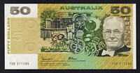 Australia R-509a.. (1985) Fifty Dollars - Johnston/Fraser.. Gothic.. UNC