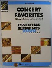 Hal Leonard Concert Favorites Essential Elements 2000 Vol.2 Percussion
