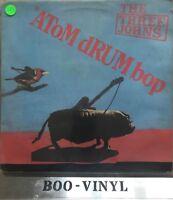 """The Three Johns – Atom Drum Bop. 12"""" LP Vinyl Album. Rare Vg+ Con"""