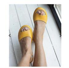 RossKiss Women Fashion Footbed Peep Toe Slip On Sandals