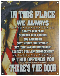 "In This Place We Always... 12""x16"" Tin Metal Sign - Made In USA Item #: 2131"