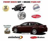 FOR MAZDA 6 GH 2008-2013 NEW FRONT BRAKE DISCS SET AND DISC PADS KIT