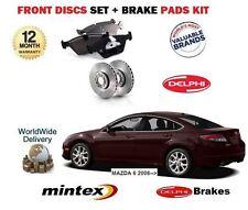 für Mazda 6 GH 2008-2013 NEU Bremsscheiben Vorne Satz und Bremsbelagsatz