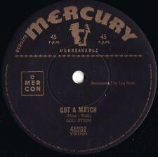 Lou Stern ORIG OZ 45 Got a match EX '58 Mercury 45232 Honky tonk piano