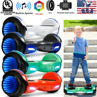 """6.5"""" Kids Hoverboard Balancing Scooter w/LED and Speaker no Bag Rechargeable"""