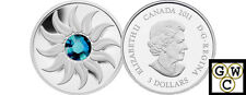 2011 Prf $3 'December(Zircon)Birthstone' Crystalized Silver .9999Fine(12828)OOAK
