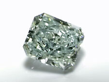 0.56ct Green Diamond - Natural Loose Fancy Light Bluish Green Color GIA Radiant