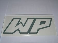 Adesivo WP white power moto vinyl vinile decal window sport r1 r6 636 zxr etc