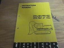 Liebherr R972 Excavator Operation & Maintenace Manual