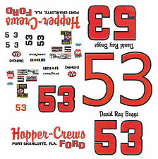 #53 David Ray Boggs Harper-Crews Ford 1/32nd Scale Slot Car Waterslide Decals
