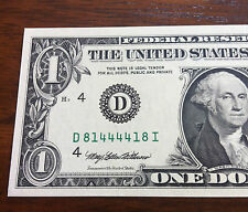 1-IN-12,000 ODDS OF FINDING One Dollar RARE RADAR Federal Reserve Note!!
