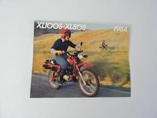 NOS 1984 Honda XL100S XL80S Dealer Brochure L166