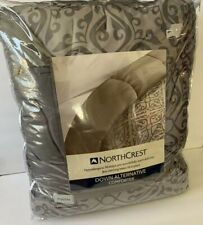 Northcrest Down Alternative Comforter Twin Size Gray Medallion New Sealed
