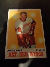 Gordie Howe 1970-71 Topps #29 Hockey Card Detroit Red Wings EX Condition