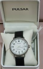 Pulsar Watch Gents Gentleman VJ42-X104 Classic White Face Boxed Analogue