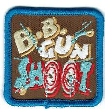 Boy Girl cub BB GUN SHOOT shooting target Fun Patches Crests Badges GUIDES SCOUT