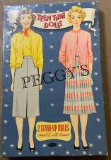 "1954 WHITMAN PUBLISHING ""TEEN TIME DOLLS"" ANN & PEGGY PAPER DOLL SET # 2627:29"
