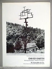 David Smith Art Gallery Exhibit PRINT AD - 1986