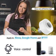 E27 WiFi Smart Light Bulb Socket Adapter Lamp Holder for Google Amazon Echo NEW