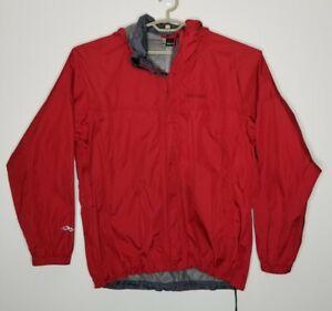Marmot Mens PreCip Rain Jacket Windbreaker L Red