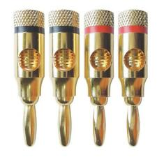 4Pcs 4MM Gold Plated Banana Plug Music Speaker Cable Wire Banana Plug Connector