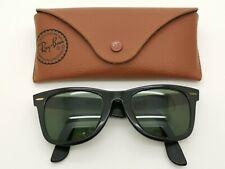Sunglasses RAY-BAN WAYFARER B&L U.S.A. BLACK L2008 YTAW & Case