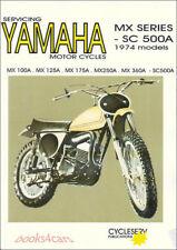 YAMAHA SHOP MANUAL SERVICE REPAIR BOOK WORKSHOP GUIDE MX SC 100 125 360 500 175