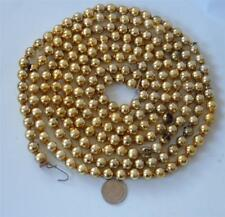 Vintage Mercury Glass Bead Garland Gold Xmas Feather Tree Antique 6/16 8' +