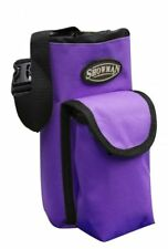 Purple Nylon Saddle Insulated Water Bottle Drink Holder Horn Bag Carrier Pocket