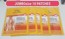 Genuine Tiger Balm Back Pain Patch Plaster Medicated Relief 10 Patches 14x10 CM!